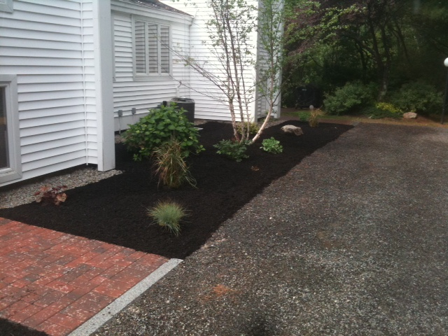 Condominium common area mulchbed