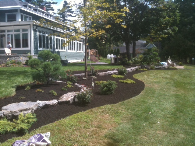 Plantings and mulchbed creation