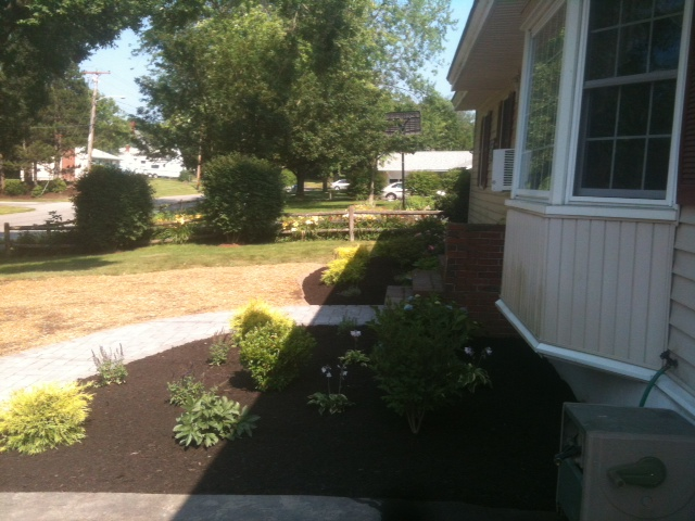 Completed walkway and landscaping