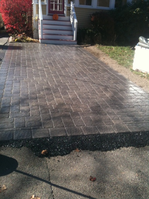 Driveway extension using concrete pavers