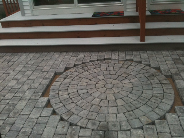 Installation of a Baxter Circle Pack on a patio